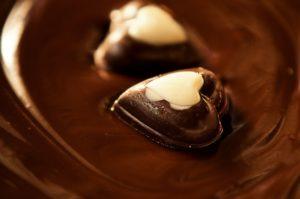 チョコレートにハートを浮かべて